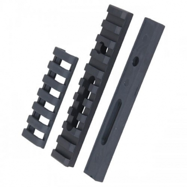 10-Slot Aluminum Rail Mounting Platform w/ Radiused Adapter Base