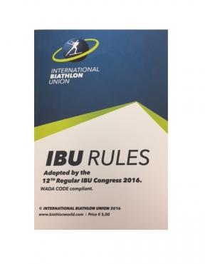 2016 IBU Rule Book