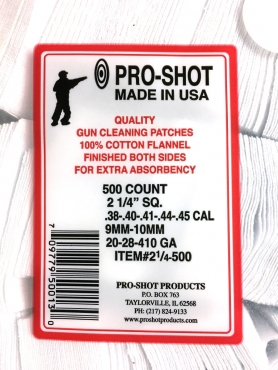 .38-.45Cal./.20-.410 2-1/4 Square Patches Qty 500