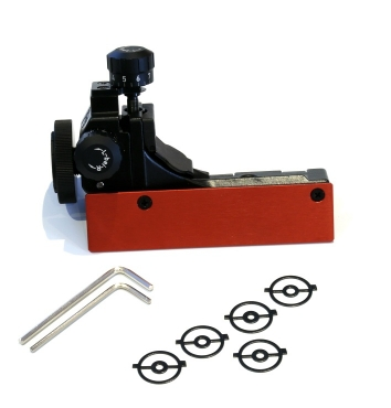 6827 World Cup Rear Sight set with Sponsor plate Red