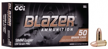 Blazer Brass 9mm Luger 124gr