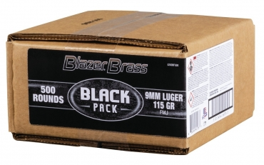 CCI Blazer® Brass Ammunition, 9mm Luger, 115 Grain, Full Metal Jacket 500 rds