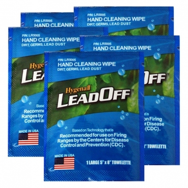 LeadOff Wipes - Range Bag Series - 5 Pack