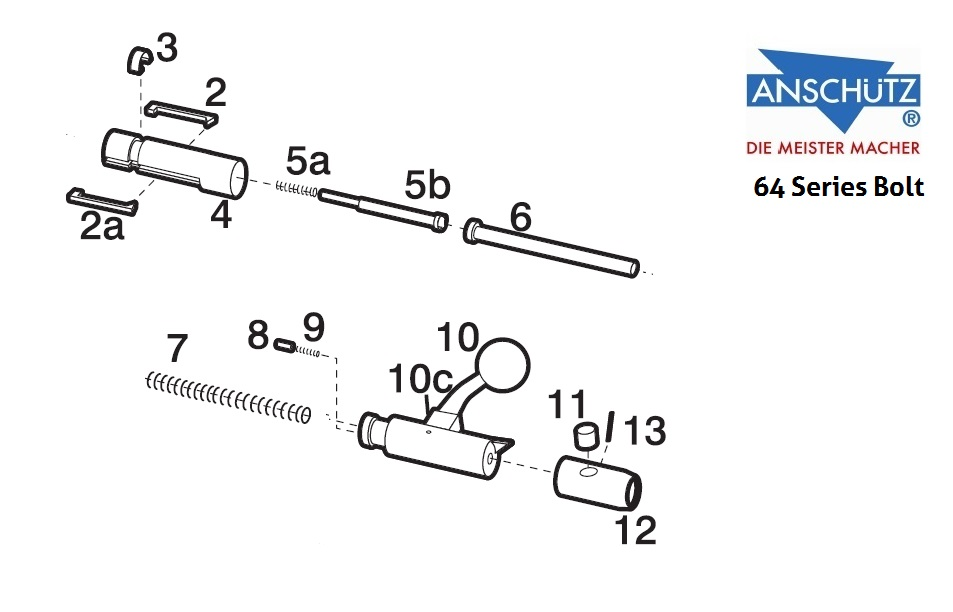 64 series bolt parts